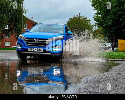 UK Weather: flash funding in Ashbounre, Derbyshire as Storm Ali hits the UK.  Credit: Doug Blane/Alamy Live News - Stock Image