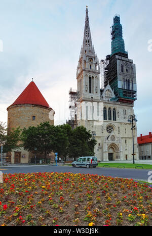 Zagreb, cathedral in Croatia - Stock Image