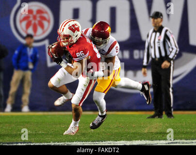 December 19, 2015. Alex Erickson #86 of Wisconsin in action during the 2015 National Education Holiday Bowl between - Stock Image