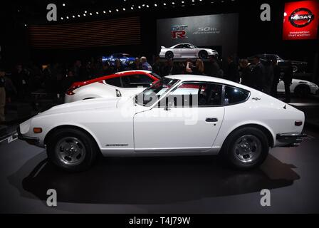 New York, NY, USA. 17th Apr, 2019. Datsun Z 240 in attendance for New York International Auto Show - WED, Jacob K. Javits Convention Center, New York, NY April 17, 2019. Credit: Kristin Callahan/Everett Collection/Alamy Live News - Stock Image