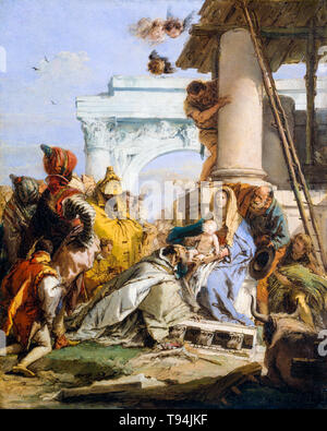 The Adoration of the Magi, painting by Giovanni Battista Tiepolo, late 1750s - Stock Image