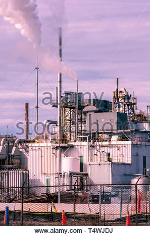 Cameco uranium conversion facility in Port Hope Ontario Canada, making uranium hexafluoride and dioxide, for nuclear reactor fuel. - Stock Image
