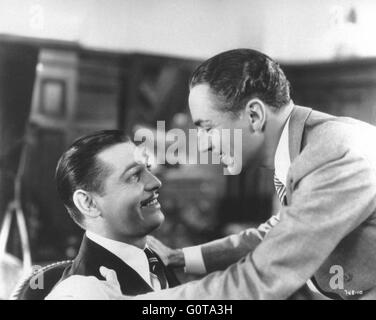 Clark Gable and William Powell / Manhattan Melodrama / 1934 directed by W.S. Van Dyke (Metro-Goldwyn-Mayer) - Stock Image