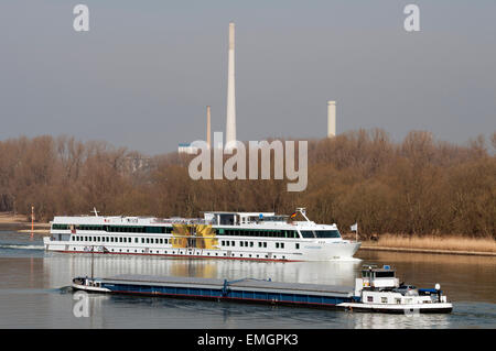 River Rhine, Cologne, Germany. - Stock Image