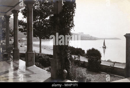 Mar y Cel Hotel, Port of Pollensa (Pollenca), Majorca, Spain.      Date: circa 1920s - Stock Image