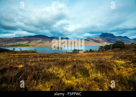 Loch Maree Island near Kinlochleven in the Highlands of Scotland - Stock Image