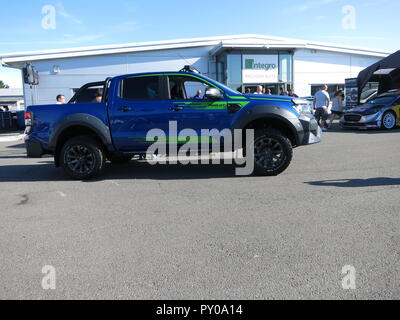 Ford Ranger MS-RT special edition m-sport rally team edition pick up truck shown at donnington park race circuit at the RS owners club national day 2017 - Stock Image