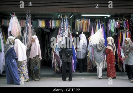 The Marketstreet  in the old city of  Kuala Lumpur in Malaysia in southeastasia. - Stock Image