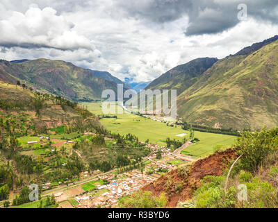 View of the Sacred Valley of the Incas - Stock Image