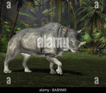 Dinosaurier Diceratus / dinosaur Diceratus - Stock Image