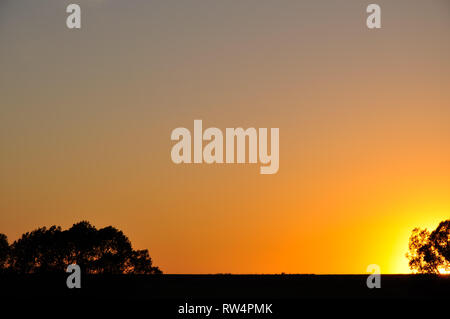 Beautiful color summer sunset sky last seconds - Stock Image