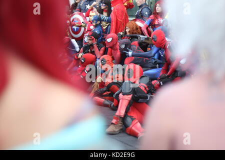 Rome, Italy. 8th October, 2017. The Romics cosplay festival in Rome Italy Credit: Gari Wyn Williams/Alamy Live News - Stock Image