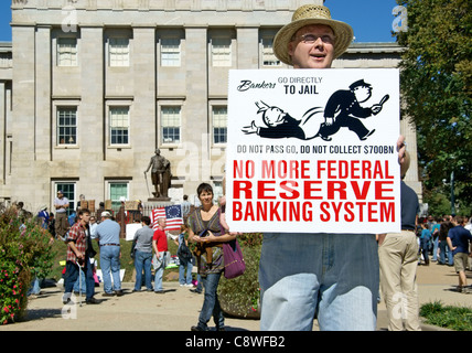 Occupy Wall Street in Raleigh, NC, October 15, 2011. - Stock Image