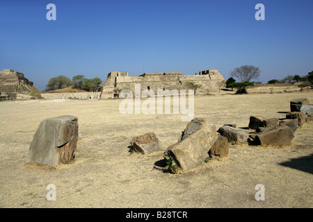 Building L or Dancers Building, Monte Alban, Oaxaca, Mexico - Stock Image