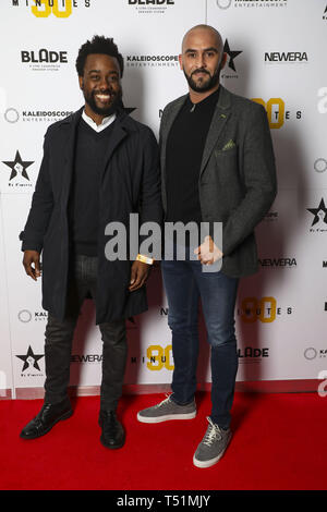 '90 Minutes' Launch Event hosted by executive producer Rio Ferdinand and director Simon Baker to celebrate the digital download and DVD release on 1 April  Featuring: Andy Douglas, Paolo Vanatao Where: London, United Kingdom When: 19 Mar 2019 Credit: PinPep/WENN.com - Stock Image