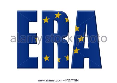 Digital Illustration - EU agency. ERA European Union Agency for Railways, Europäische Eisenbahnagentur, Spoorwegbureau van de Europese Unie - Stock Image