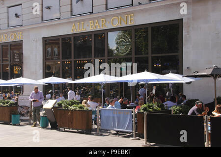 All Bar One at Leicester Square London September 2017 - Stock Image