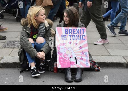 London, UK. 23rd March, 2019. People's Vote March, Parliament Square, London. UK Credit: michael melia/Alamy Live News - Stock Image