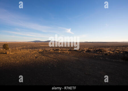 Beautiful landscape scenic from a road trip to Fort Rock in South Central Oregon on the Eastern side of the Cascades. - Stock Image