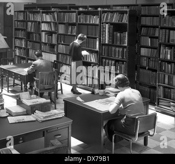 Newspaper office library Wolverhampton West Midlands 1957 - Stock Image