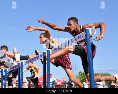 The Class L Track Championship meet in Middletown CT USA - Stock Image