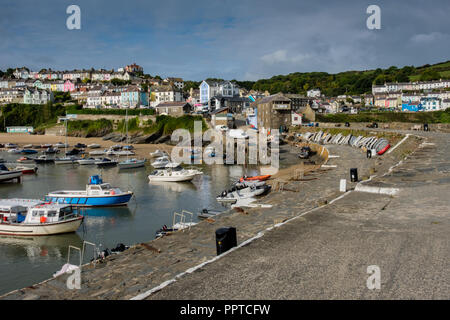 The harbour at New Quay, Ceredigion, Wales - Stock Image
