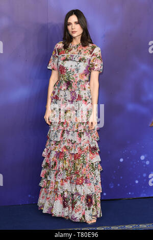 London, UK. 09th May, 2019. LONDON, UK. May 09, 2019: Lilah Parsons at the 'Aladdin' premiere at the Odeon Luxe, Leicester Square, London. Picture: Steve Vas/Featureflash Credit: Paul Smith/Alamy Live News - Stock Image