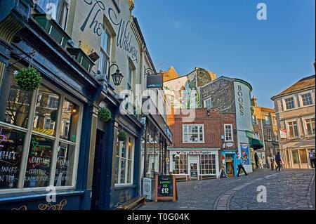 City centre street scene in Norwich - Stock Image