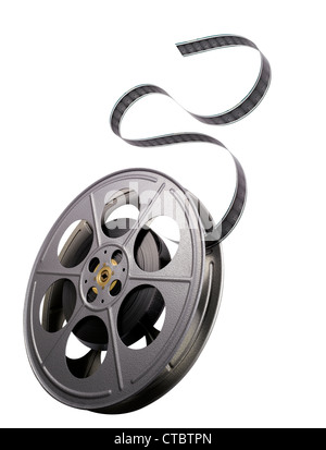 A traditional 35mm film spool. - Stock Image