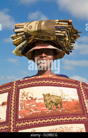 African woman selling goods Knysna Western Cape South Africa - Stock Image