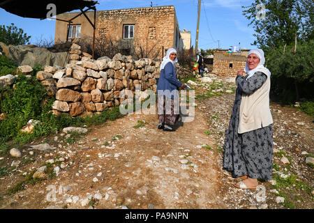 Kurdish women in Hasankeyf , Turkey - Stock Image