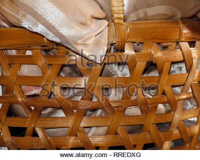 Nicaraguan basket holding pillows - Stock Image