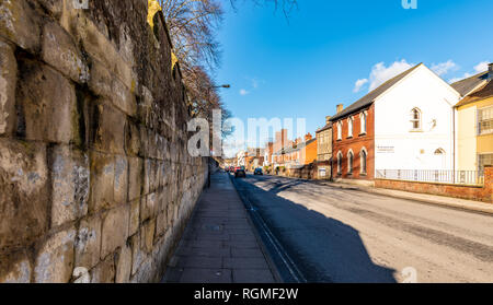 Salisbury, Wiltshire, UK. 30th January 2019. The streets of Salisbury are quieter than normal as the aftermath of the Novichok attacks affects visitor numbers. Credit: Thomas Faull/Alamy Live News - Stock Image