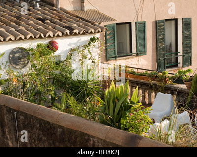 View from roof, Mallorca Balearic Islands Spain - Stock Image