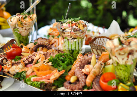 Catering sea food - Stock Image