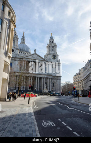 St Paul's Cathedral by Sir Christopher Wren, London, UK - Stock Image