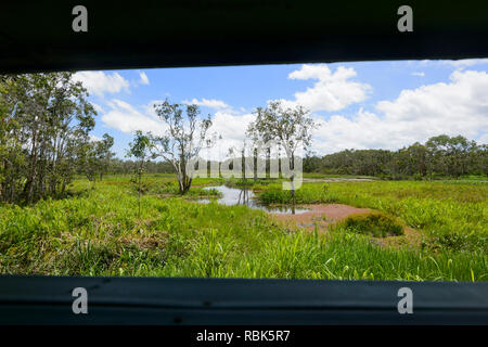 View over Abattoir Swamp from the bird hide, Atherton Tablelands, Far North Queensland, FNQ, QLD, Australia - Stock Image