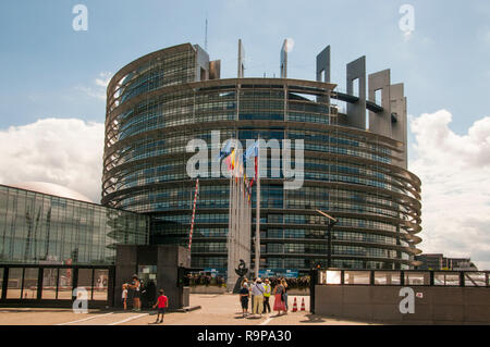 European Parliament, Strasbourg, Alsace, France - Stock Image