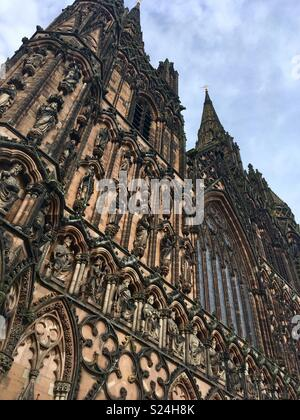 Lichfield Cathedral, Staffordshire - Stock Image