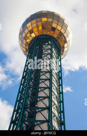 The sunsphere towers over Worlds Fair Park in downtown Knoxville, Tennessee on February 19, 2017. - Stock Image