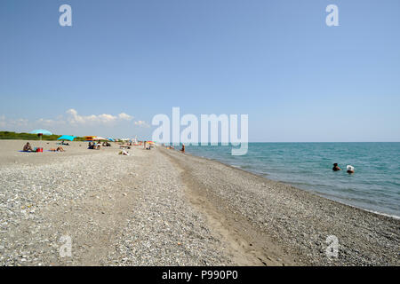 italy, basilicata, policoro, beach - Stock Image