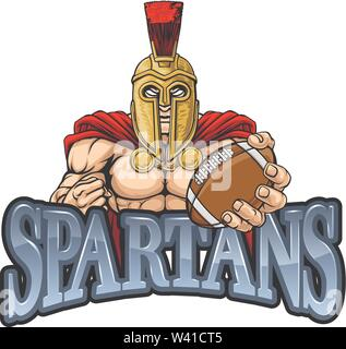 Spartan Trojan American Football Sports Mascot - Stock Image
