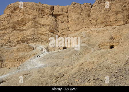 Burial Chambers in the Valley of the Queens Egypt - Stock Image