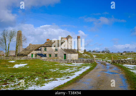 The Magpie Mine, was one of the most famous lead mines in the Peak District. - Stock Image