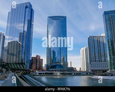 Skyscrapers, Chicago, Illinois. - Stock Image