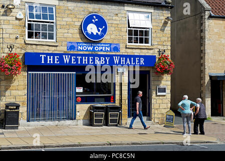 The Wetherby Whaler fish & chip shop in Wetherby, West Yorkshire, England UK - Stock Image