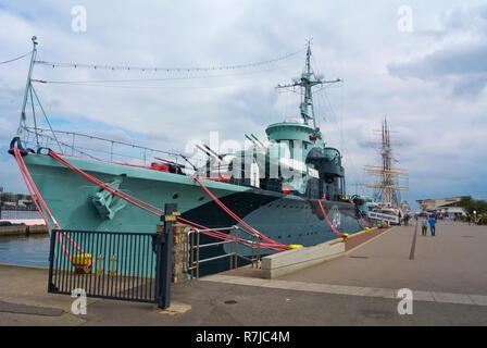 Blyskawica, Okret Muzeum, Naval Museum, Molo Poludniowe, South Pier, Gdynia, Poland - Stock Image