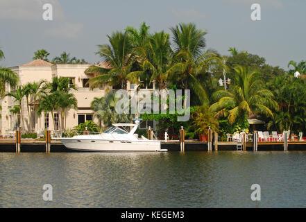 luxury waterfront home florida - Stock Image
