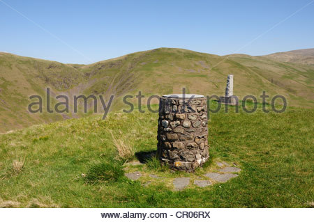 Cairn and Memorial to John Hunter, a Covenanter who was killed near this spot near the Devil's Beeftub, Moffat, - Stock Image