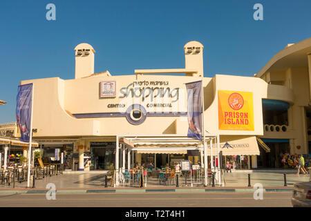 Benalmadena Spain.Puerto marino shopping centre in the Port of Benalmadena, Andalusia, Spain. - Stock Image